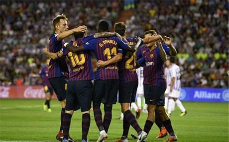 """برشلونة يحقق فوزًا صعبًا على بلد الوليد ويعتلي قمة """"الليغا"""""""