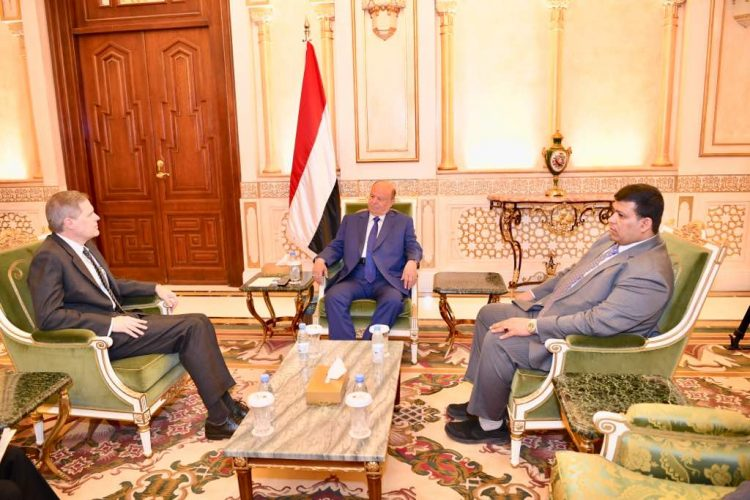 President Hadi held a meeting with US Ambassador Toler