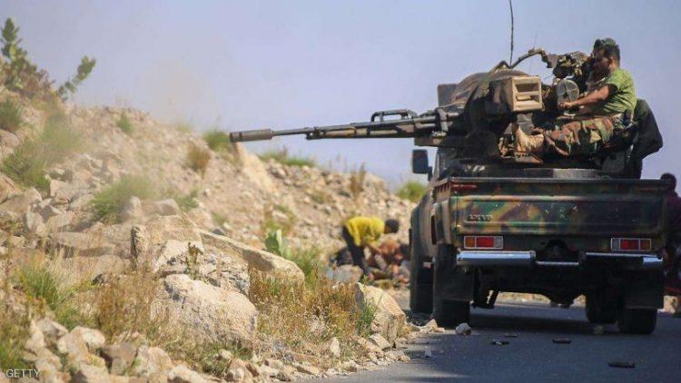 7 من عناصر مليشيا الحوثي يلقون مصرعهم بمواجهات مع قوات الجيش الوطني غرب تعز
