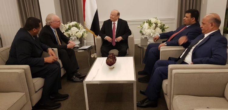 رئيس الجمهورية يلتقي وكيل الخارجية الأمريكية لشؤون الشرق الأدنى