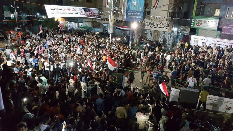 أبناء تعز يوقدون شعلة الـ 56 لثورة 26 سبتمبر الخالدة