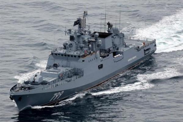 وكالات: سفينة حربية روسية مضادة للغواصات تصل خليج عدن