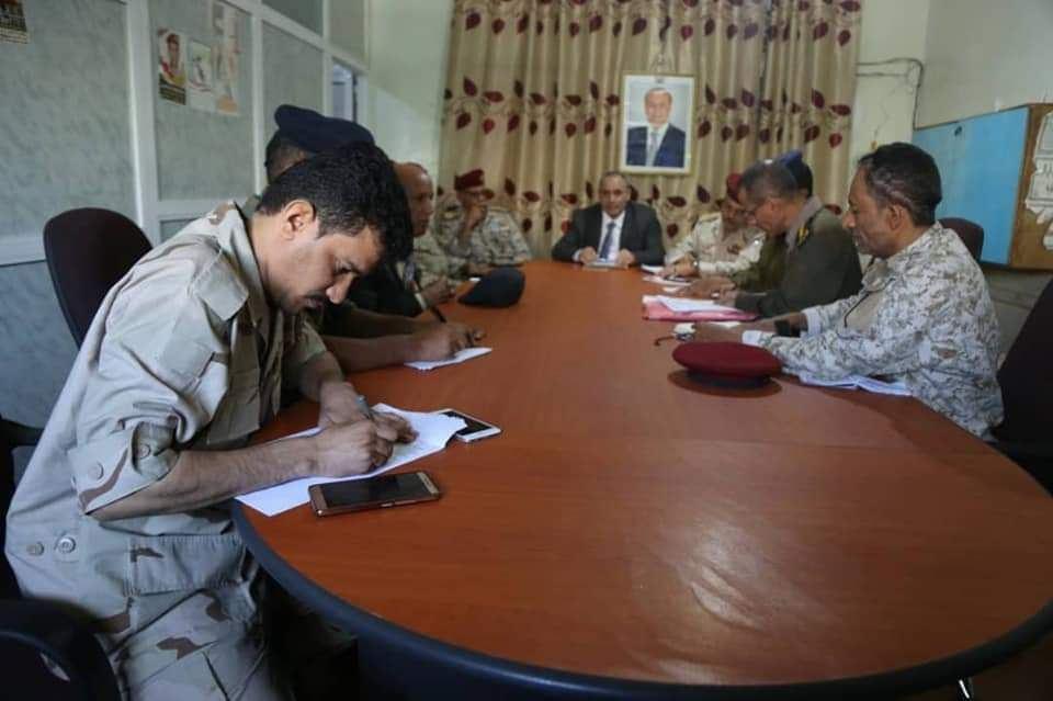 اللجنة الأمنية بتعز تعقد اجتماعا أمنيا لمناقشة التطورات الأمنية في المحافظة