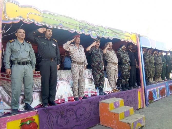 ابين.. القوات الخاصة تحتفل بمناسبة تخرج الدفعة الأولى وتدشين العام التدريبي 2019
