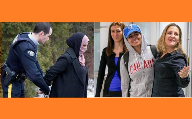 شاهد الفرق بين فتاة سعودية واخرى يمنية في كندا (صور تكشف تناقض ما يسمى العالم الحُر)
