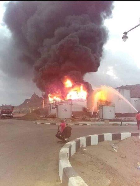 العود يشكل لجنة لتقصي الحقائق حول ملابسات الحريق في خزانات الوقود بعدن