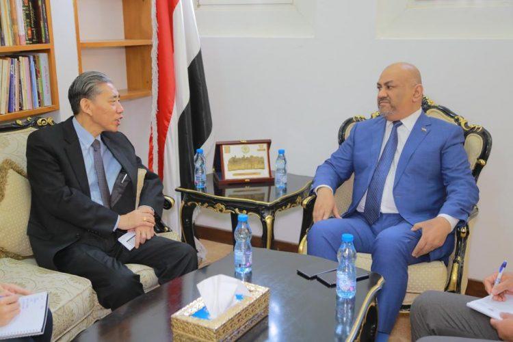 """لقاء بين وزير الخارجية """"اليماني"""" والسفير الصيني لدى اليمن (تفاصيل)"""
