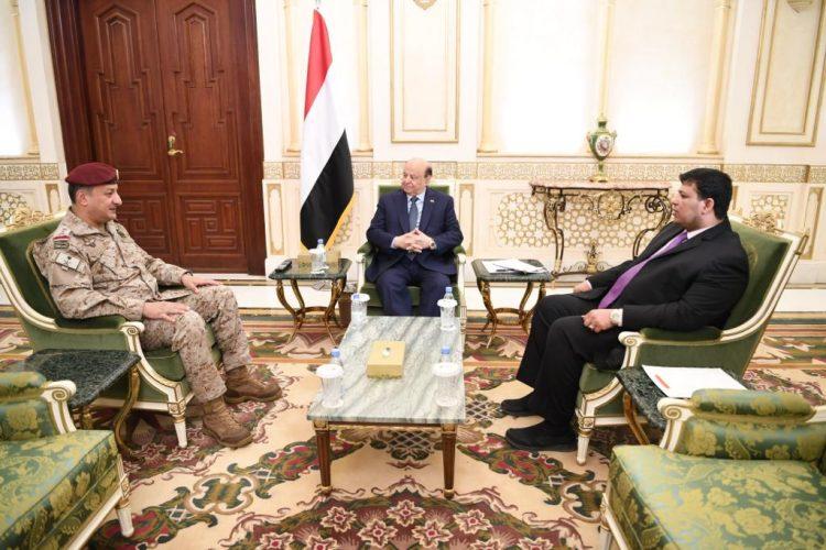 رئيس الجمهورية يلتقى قائد القوات المشتركة في التحالف العربي