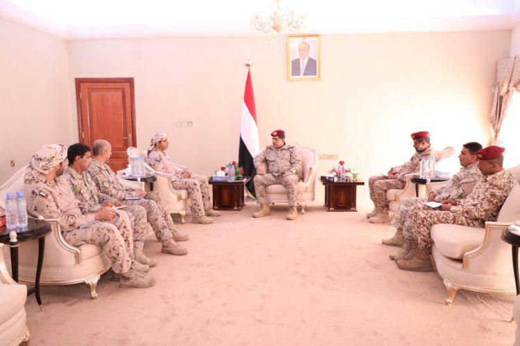 رئيس هيئة الاركان يلتقي قيادات قوات التحالف العربي في العاصمة المؤقتة عدن