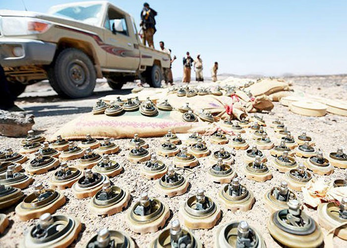 تقرير دولي يفضح المليشيات ويصنف اليمن بأكبر دولة ملغومة منذ الحرب العالمية الثانية