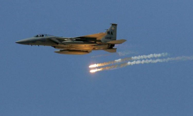 طيران التحالف العربي يشن غارات على مواقع المليشيا في محافظتي عمران وصعدة