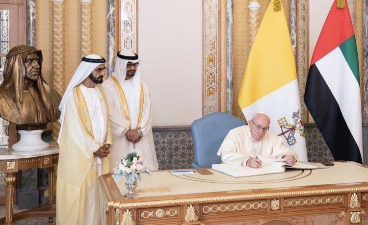 زيارة البابا للإمارات تزكية لانتهاك حقوق الإنسان والاستبداد
