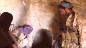 خلال تقدمه في رازح بصعده الجيش الوطني يعثر على أنفاق وخنادق صخرية تابعة للحوثيين