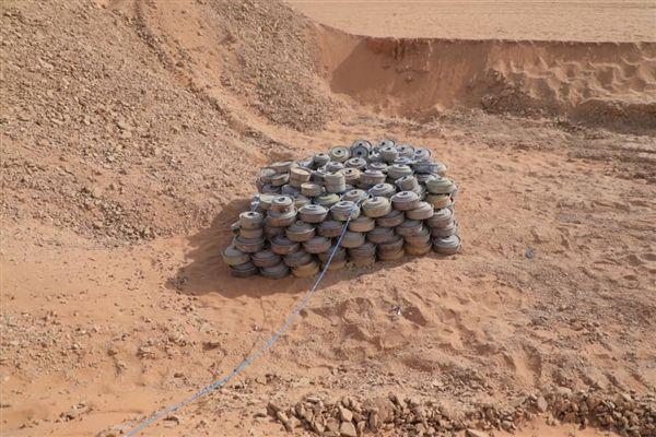الفرق الهندسة تتلف 3000 لغم وعبوة ناسفة زرعتها المليشيا في باقم بصعدة