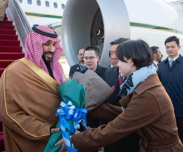في زيارة رسمية.. ولي العهد السعودي محمد بن سلمان يصل الصين