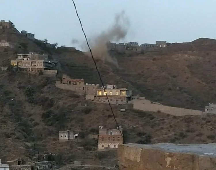 طيران التحالف العربي يستهدف تعزيزات لمليشيا الحوثي في كشر بحجة