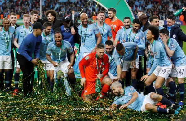 مانشستر سيتي يتوج بلقب كأس الرابطة الانجليزية بعد الفوز على تشيلسي