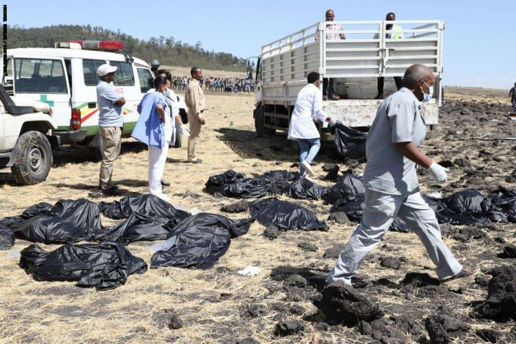 157 شخصاً من 33 دولة ضحايا الطائرة الأثيوبية المنكوبة بينهم يمني واحد