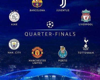 هذا هو موعد إجراء القرعة.. تعرّف على الفرق المتأهلة إلى ربع نهائي أبطال أوروبا