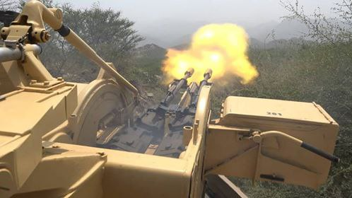 الجيش الوطني يصد هجوما للميلشيا ويدمر عربتين في كتاف بصعدة
