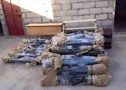 """مخزون مليشيات ابو العباس """"الصواريخ الحرارية المقدمة من الامارات"""""""