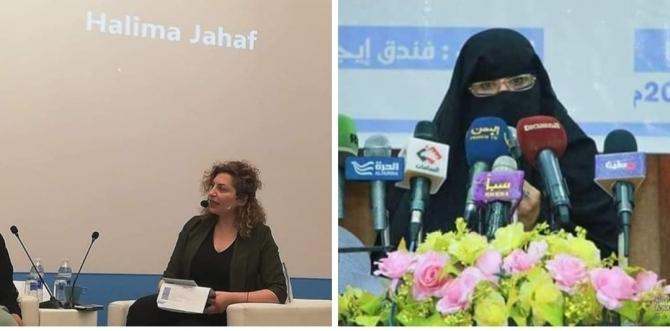 بالصورة.. قيادية حوثية تخلع حجابها.. وكويتيون يشنون حملة ضدها