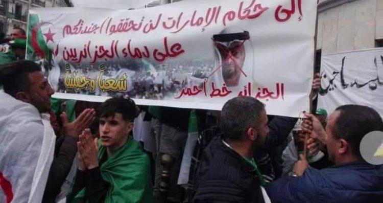 لامكان للإمارات في بلد المليون شهيد.. مليونية الجزائر تسجل حضوراً ضد التدخل الإماراتي في البلاد