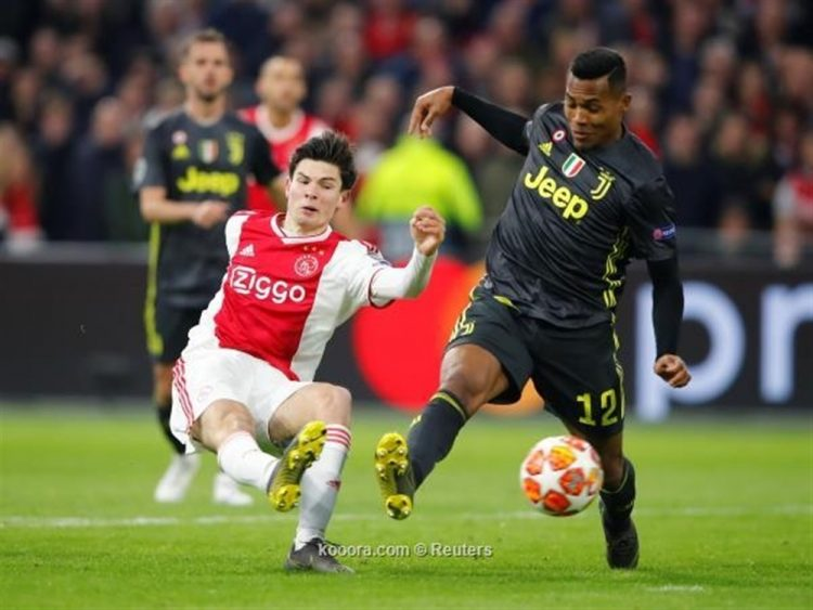 يوفنتوس يتعادل مع أياكس أمستردام في ذهاب الدور ربع النهائي من دوري أبطال أوروبا