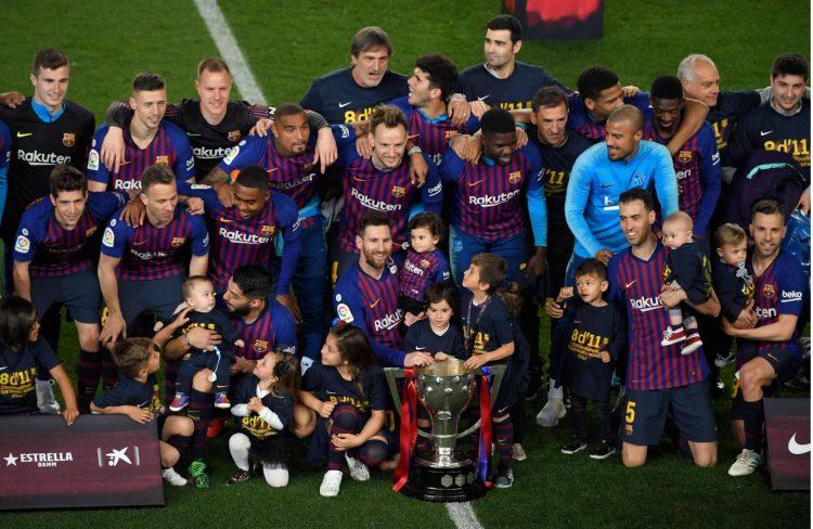 قبل 3 جولات من نهاية الدوري.. برشلونة يتوج بلقب الدوري الإسباني