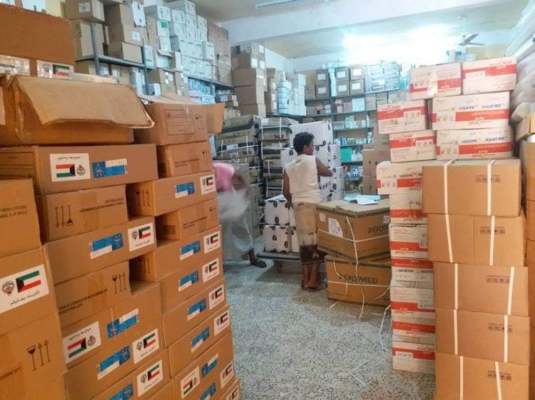 مقدمة من وزارة الصحة والسكان.. مكتب الصحة بالمهرة يتسلم 40 طناً من الأدوية والمستلزمات الطبية