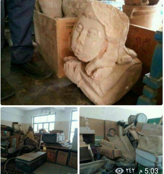 الأجهزة الأمنية في تعز تعثر على قطع أثرية في مقر أبو العباس المدعوم إماراتيا