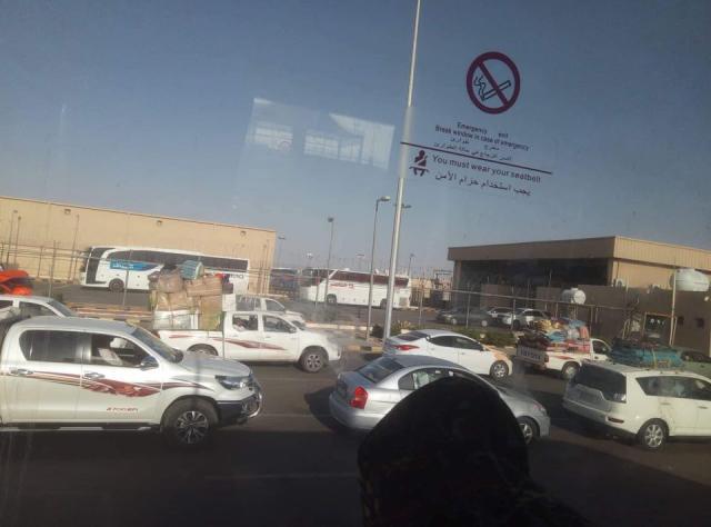 تكدس كبير للمسافرين اليمنيين في منفذ الوديعة الحدودي مع السعودية