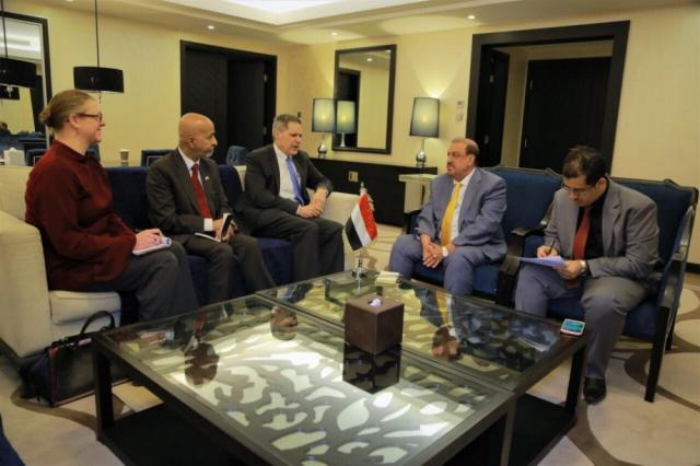 البركاني يلتقي السفير الامريكي لدى اليمن