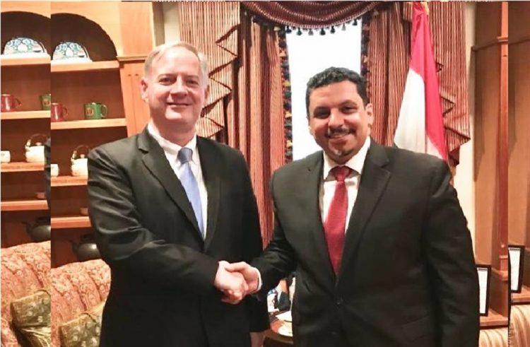 خلال لقائه بن مبارك.. السفير الأمريكي الجديد يأمل إنهاء الصراع في اليمن عبر الحل السياسي