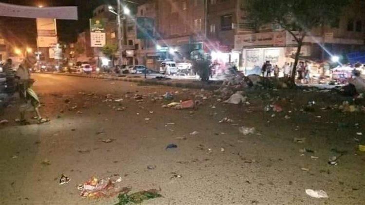 إنفجار عبوة ناسفة وسط مدينة تعز ومقتل وإصابة 5 مدنيين والأجهزة الأمنية تفكك أخرى