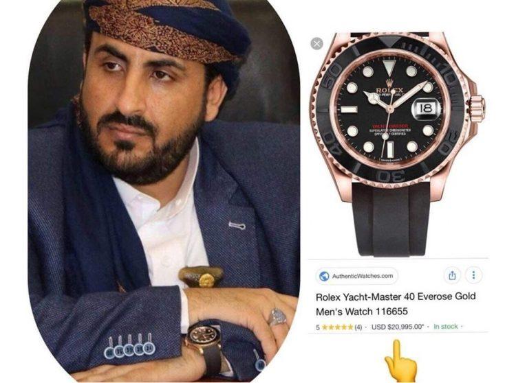 ساعة يرتديها ناطق الحوثيين تثير جدلا على مواقع التواصل الاجتماعي
