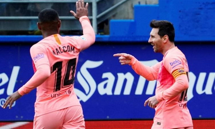 برشلونة يختتم مشواره في بطولة الدوري الأسباني بالتعادل مع إيبار