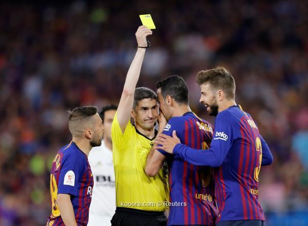 برشلونة يسقط امام فالنسيا ويخسر لقب كأس ملك اسبانيا