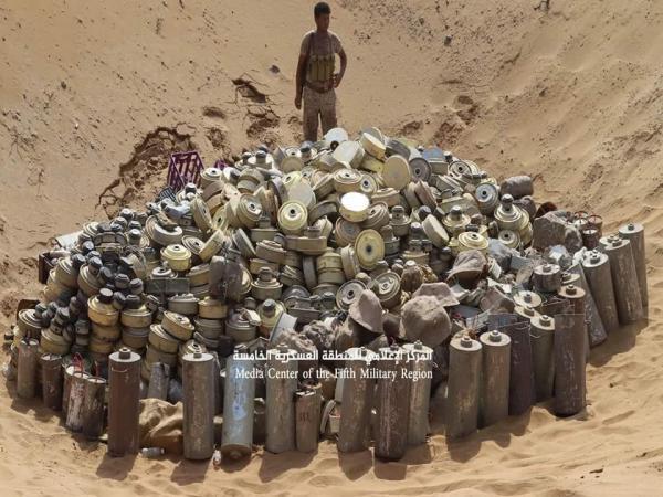 قوات الجيش تتلف أكثر من 800 لغم في حجة