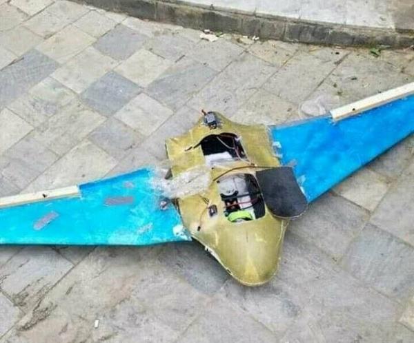 قوات الجيش الوطني في تعز تسقط طائرة مسيرة تابعة لمليشيا الحوثي