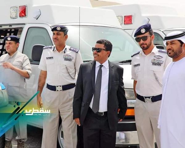 """الامارات تدعم مدير أمن سقطرى """"الرجدهي"""" بعد استدعائه الى أبوظبي"""