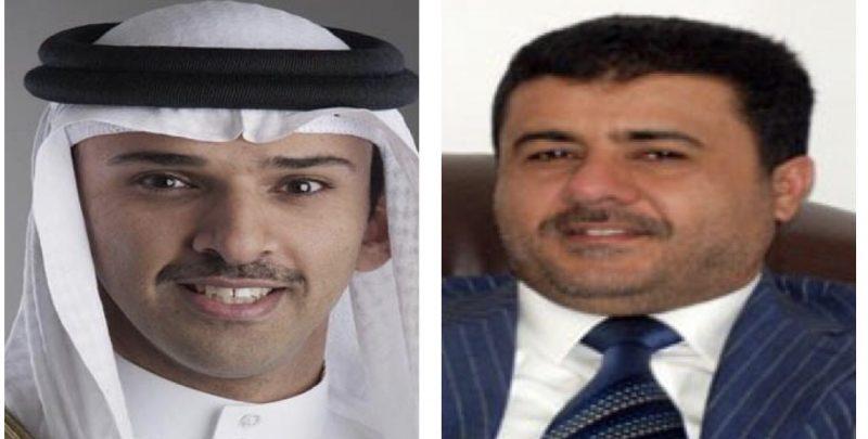 رئيس الاتحاد اليمني لكرة القدم يهنئ نظيره البحريني بفوز منتخب بلاده بخليجي 20