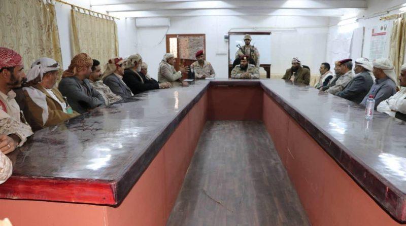 إجتماعٌ لقائد العمليات المشتركة مع قيادة السلطة المحلية لمحافظة عمران