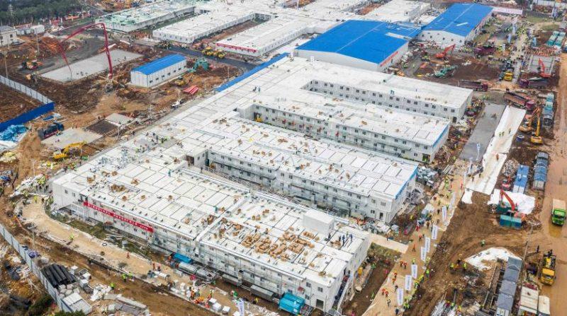 شاهد بالصور.. المستشفى الذي أقامته الصين في 8 أيام يستقبل مرضى «كورونا»