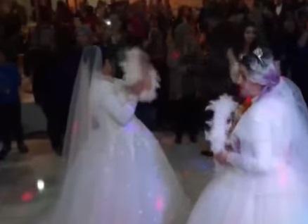 "سمية وقادرة.. شقيقتان تقيمان حفل زفاف بدون عرسان بحضور رسمي في تركيا ""فيديو"""