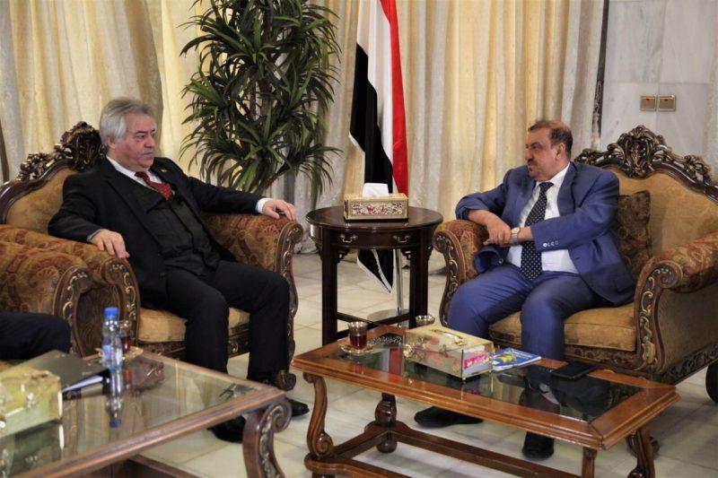 """سلطان البركاني يلتقي سفير تركيا لدى اليمن """"تفاصيل اللقاء"""""""