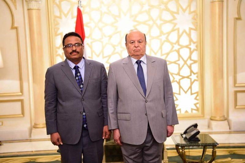 بعد ايقافه للوزير الجبواني.. الرئيس هادي يتدخل ويوجه صفعة لرئيس الوزراء معين عبدالملك