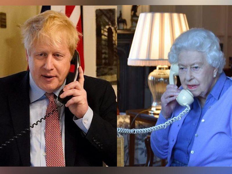 """رئيس وزراء بريطانيا """"بوريس جونسون"""" يعلن في فيديو اصابته بفيروس كورونا وهذا اخر لقاء له مع الملك إليزابيث"""
