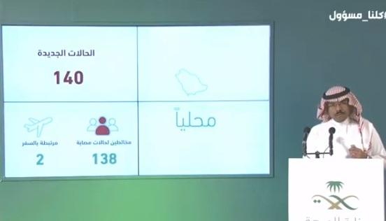 """الصحة السعودية تعلن عن 140 اصابة و 69 حالة شفاء و 4 حالات وفاة بسبب فيروس كورونا اليوم السبت 4-4-2020 """"الحالات بحسب المدن"""""""