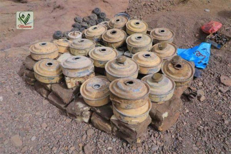 مشروع مسام يعلن عن تسبب ألغام الحوثي بقتل وإعاقة 800 مدني في موزع والوازعية